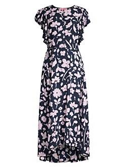 f43259d0fe2f Kate Spade New York. Splash Flutter Sleeve Floral Midi Dress