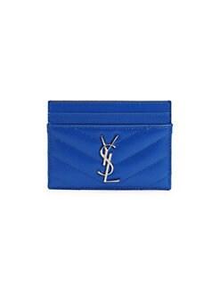 8d8512088fc QUICK VIEW. Saint Laurent. Monogram Matelassé Neon Leather Card Case