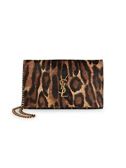 c1b8546c15cb QUICK VIEW. Saint Laurent. Leopard Print Leather & Calf Hair Wallet On Chain