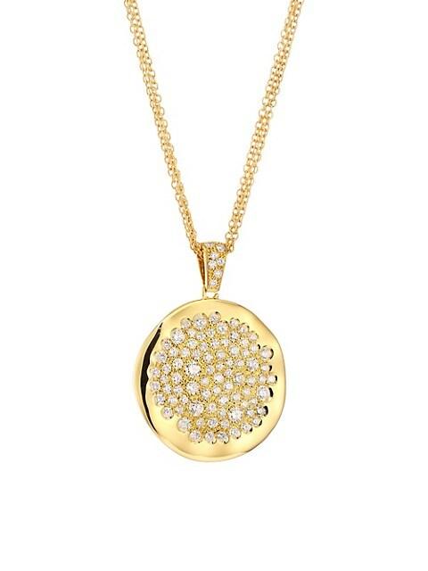 Via Brera 18K Yellow Gold & Diamond Pendant Necklace