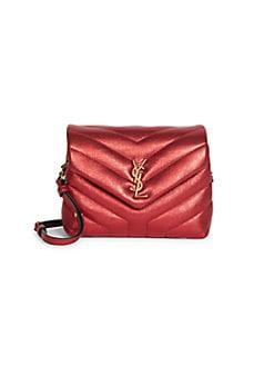 ec092871ee9 Saint Laurent. Toy Loulou Matelassé Leather Crossbody Bag