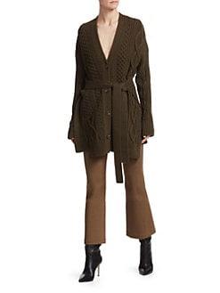 3756317b709f Proenza Schouler. Cable-Knit Merino Wool Sweater