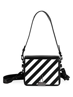 64a1105017fc Product image. QUICK VIEW. Off-White. Diagonal Stripe Flap Leather Shoulder  Bag