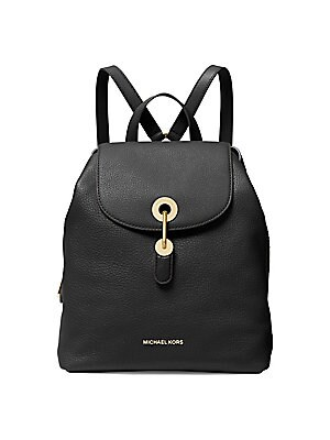 44428c7766f3 Michael Kors Collection - Medium Raven Leather Backpack - saks.com