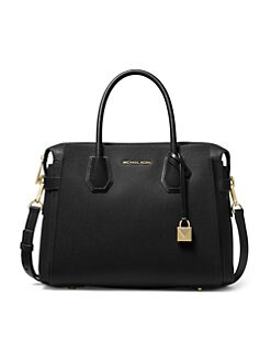 36f470ba5a64 Michael Kors Collection. Medium Mercer Belted Leather Satchel