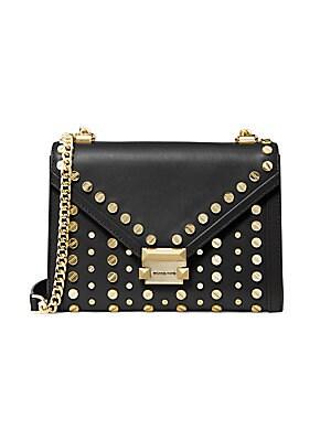8bad0d8f95 MICHAEL Michael Kors - Whitney Studded Large Leather Shoulder Bag ...