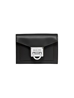 62c9c4f3ad27 Michael Kors Collection Small Manhattan Leather Envelope Wallet