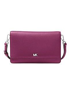 edbf1b600f8b Michael Kors Collection Mercer Pebble Leather Crossbody Bag