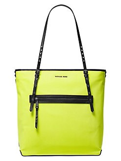 4d453f1934f7 Michael Kors Collection Large Leila Neon Tote Bag