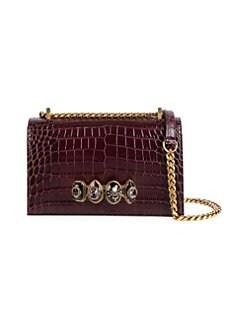 846a57655713 Alexander McQueen. Jewelled Leather Crossbody Bag