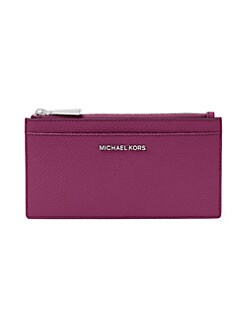 16e94f6ff4 Product image. QUICK VIEW. Michael Kors Collection. Large Pebbled Leather  Slim Card Case