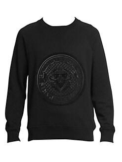 9c58757d7cf Balmain. Coin Logo Sweatshirt