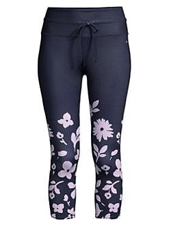 fb1c91cf51ad Kate Spade New York. Floral Print Cropped Workout Leggings