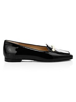 be7de23ca05 Stuart Weitzman. Rosie Embellished Patent Leather Loafers