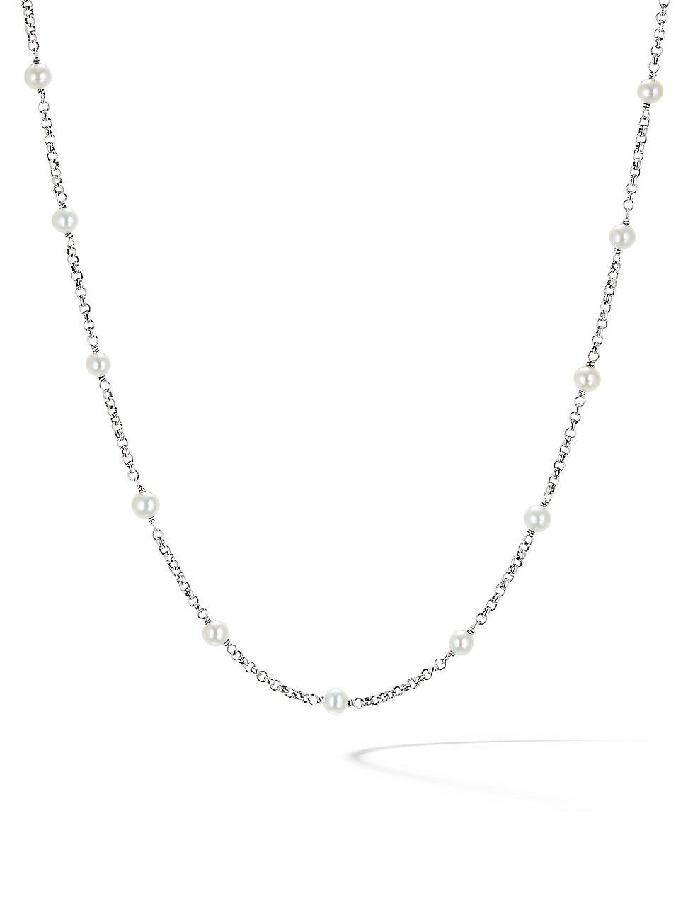David Yurman WOMEN'S CABLE COLLECTIBLES BEAD & CHAIN NECKLACE WITH PEARLS
