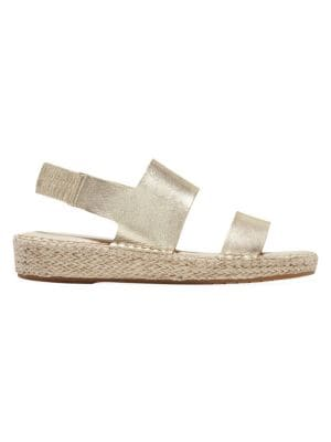 Cole Haan Cloudfeel Metallic Leather Espadrille Sandals