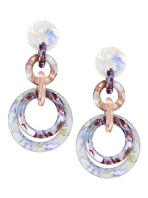 Lele Sadoughi Loop De Loop Triple Hoop Earrings