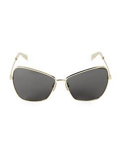 2ba7bf08d7df CELINE. 54MM Butterfly Aviator Sunglasses