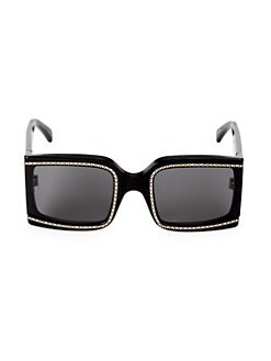 4b225e422b3 60MM Crystal Square Sunglasses BLACK. QUICK VIEW. Product image