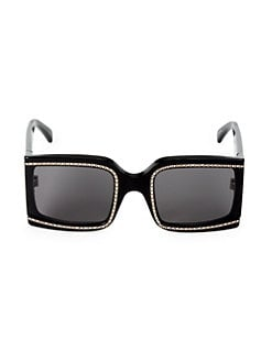 1f8e8987d2f2 60MM Crystal Square Sunglasses BLACK. QUICK VIEW. Product image