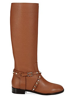 d9dc3548b85d4 QUICK VIEW. Valentino Garavani. Rockstud Leather Riding Boots