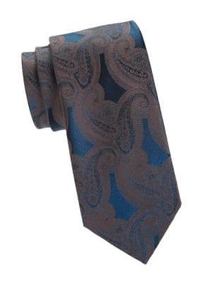 Brioni Paisley Print Silk Tie