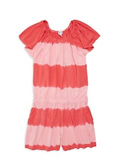 c6b755cc730 Product image. QUICK VIEW. Splendid. Little Girl's Tie-Dyed Flutter Sleeve  Romper