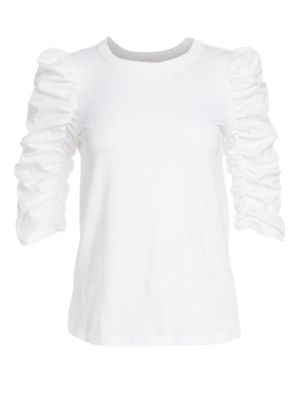 See By Chlo Ruched Sleeve Tee