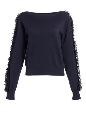 See By Chlo Ruffle Sleeve Knit Sweater
