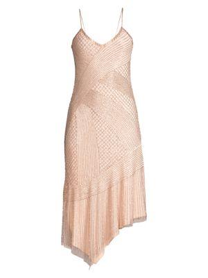 Parker Black Athena Beaded Cocktail Dress