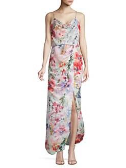 b3d1808017f Parker Black. Delphine Floral Chiffon Maxi Dress