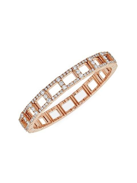 18K Rose Gold & Diamond Stretch Bracelet
