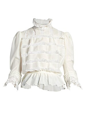 The Marchive Victorian Lace Silk Blend Blouse by Marc Jacobs