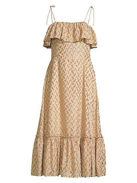 Savannah Elise Ruffle Midi Dress