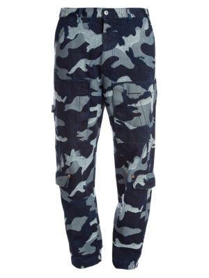 Valentino Camo Denim Cargo Pants