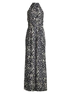 7b802b263c Rebecca Vallance. Lola Leopard   Zebra Print Jumpsuit