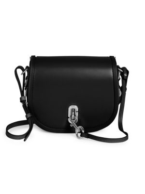 premium selection cheapest more photos The Saddle Bag Leather Crossbody Bag in Black