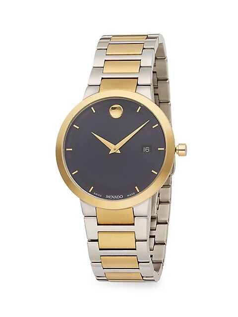 Modern Classic Stainless Steel & PVD Yellow Gold Stainless Steel Bracelet Watch