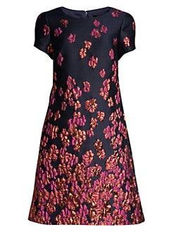 e0ce216bf9 QUICK VIEW. Aidan Mattox. Metallic Floral Cap Sleeve Dress