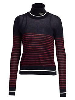 a2c76d1968acc No. 21. Metallic Striped Virgin Wool Turtleneck Sweater