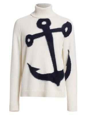 N°21 Anchor Virgin Wool & Mohair Blend Turtleneck Sweater In Cream