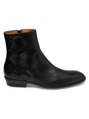 Bruno Magli Boots Riccardo Woven Leather Ankle Boots