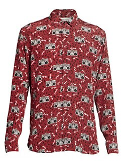bb580b0bf58a Product image. QUICK VIEW. Saint Laurent. Printed Silk Shirt