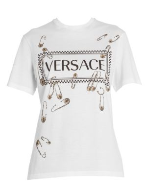 87cf7a4c03 Versace - Safety Pin Wool Mini Skirt - saks.com