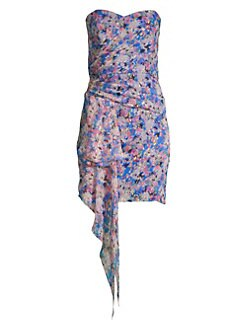 5cf0b85da5 QUICK VIEW. Shoshanna. Tissa Metallic Floral Print Mini Dress