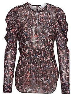 0db20997daf84 IRO. Lou Floral Puff Sleeve Blouse
