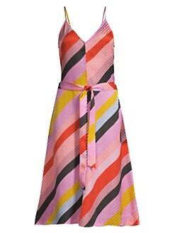 57fa7cbbc14b3 Stine Goya - Gianna Striped Silk Dress