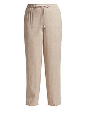 Marina Rinaldi Plus Size Marina Sport Responso Linen Blend Pants