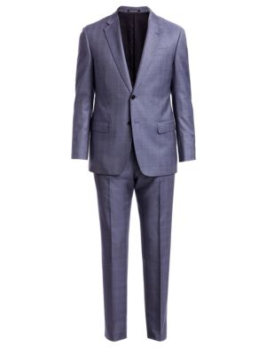 Emporio Armani Plaid Wool Suit