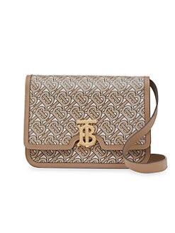 c7f4003e9cc5 QUICK VIEW. Burberry. Medium TB Monogram Print Leather Shoulder Bag